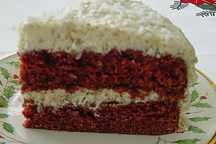 Roter Samtkuchen  mit Kokos - Walnuss - Creme 5