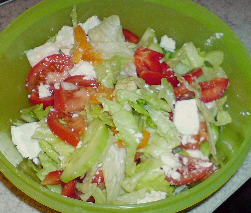 Gemischter Salat Mit Joghurt Dressing Von Schokomäuschen23
