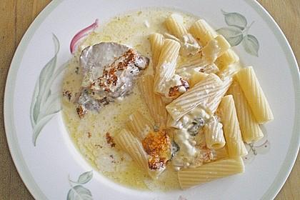 Lendchen in Gorgonzolasauce