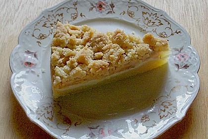 Apfelkuchen mit Vanillecreme und Streusel 1