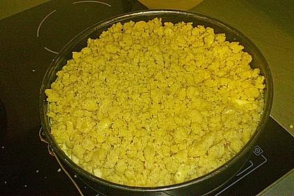 Apfelkuchen mit Vanillecreme und Streusel 6