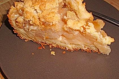 Apfelkuchen mit Vanillecreme und Streusel 2