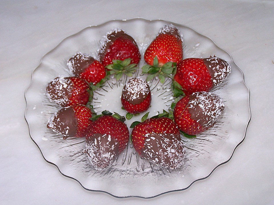Schoko Erdbeeren