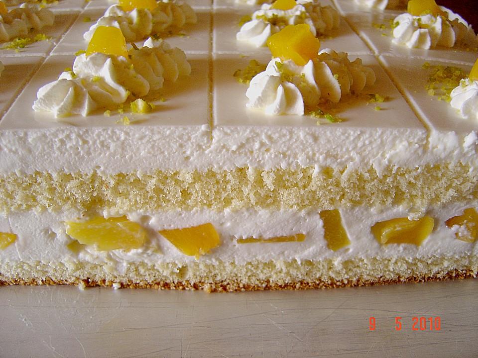 Quark Pfirsich Sahne Torte Von Paehm Chefkoch De