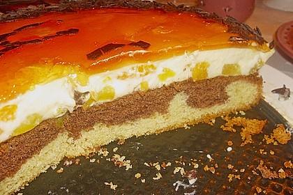 Pfirsich - Vanille - Torte 24