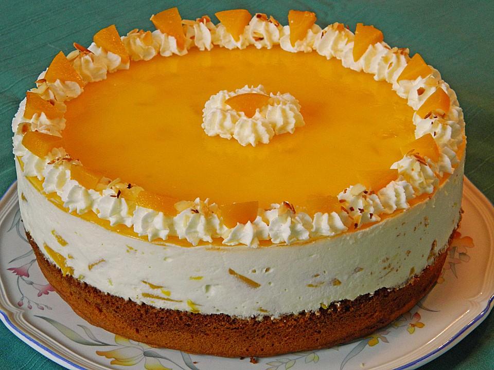 Pfirsich Vanille Torte