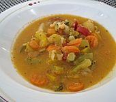 Paprika -  Gemüsesuppe (Bild)