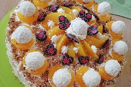 Pfirsich - Raffaello - Torte 16