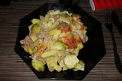 Kartoffel - Rosenkohl Auflauf (Bild)