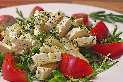 Salat mit Spargel, Rucola und Schafskäse 3