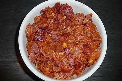 Migas con jamòn y chorizo 1