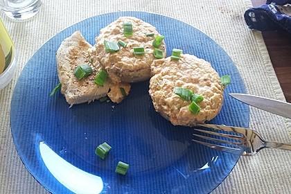 Vegetarisch gefüllte Champignons auf Reis 11