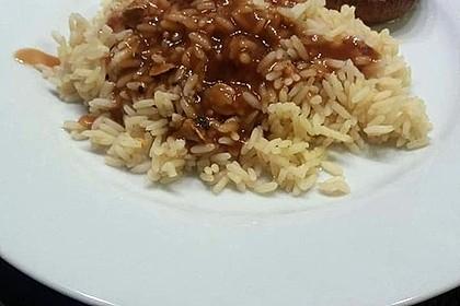 Vegetarisch gefüllte Champignons auf Reis 6