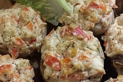 Vegetarisch gefüllte Champignons auf Reis 3