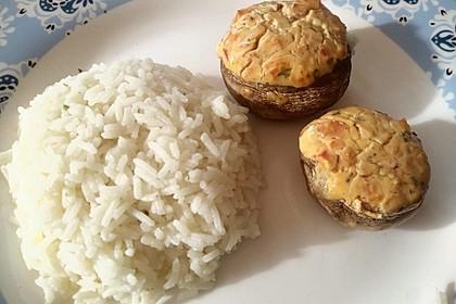 Vegetarisch gefüllte Champignons auf Reis 5