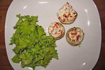 Vegetarisch gefüllte Champignons auf Reis 10