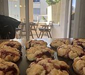 Himbeer-Muffins mit Streuseln (Bild)