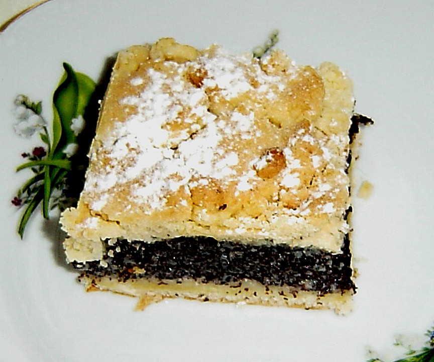 Schlesischer Mohn Streusel Hefeteig Kuchen Von Brisane