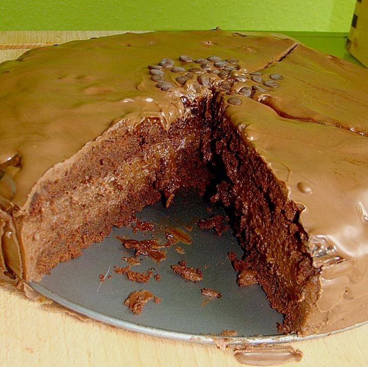 Schoko Kuchen Mit Nutella Sahne Fullung Von Spatzchen76