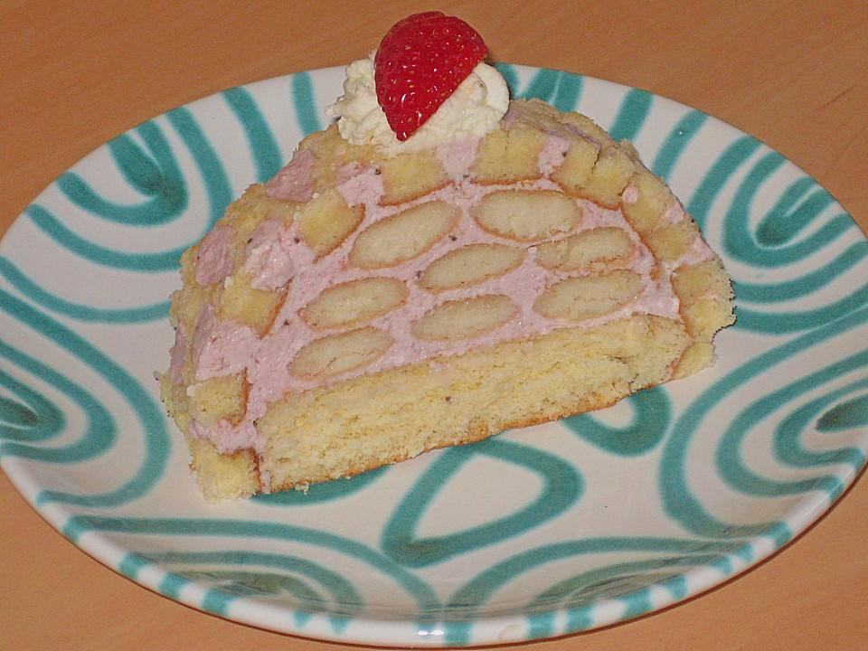 Erdbeer Biskotten Torte Von Rocky73 Chefkoch De