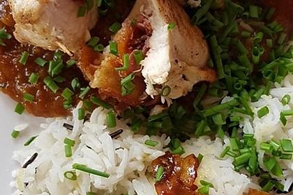 Gefüllte Hähnchenbrust auf Aprikosen-Rosmarin-Sauce 6