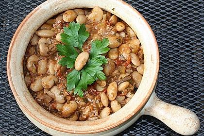 Griechische gebackene Bohnen 1