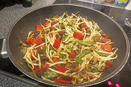 Gemüsepfanne mit Sprossen 1