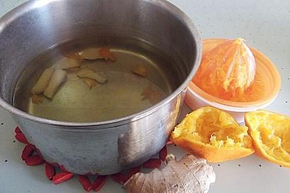 Frischer Ingwer - Orangen - Tee 9
