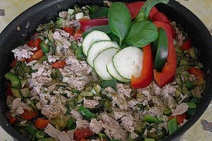 Thunfisch - Zucchini - Paprika - Pfanne