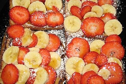 Vanille - Toast mit Erdbeeren & Bananen 1