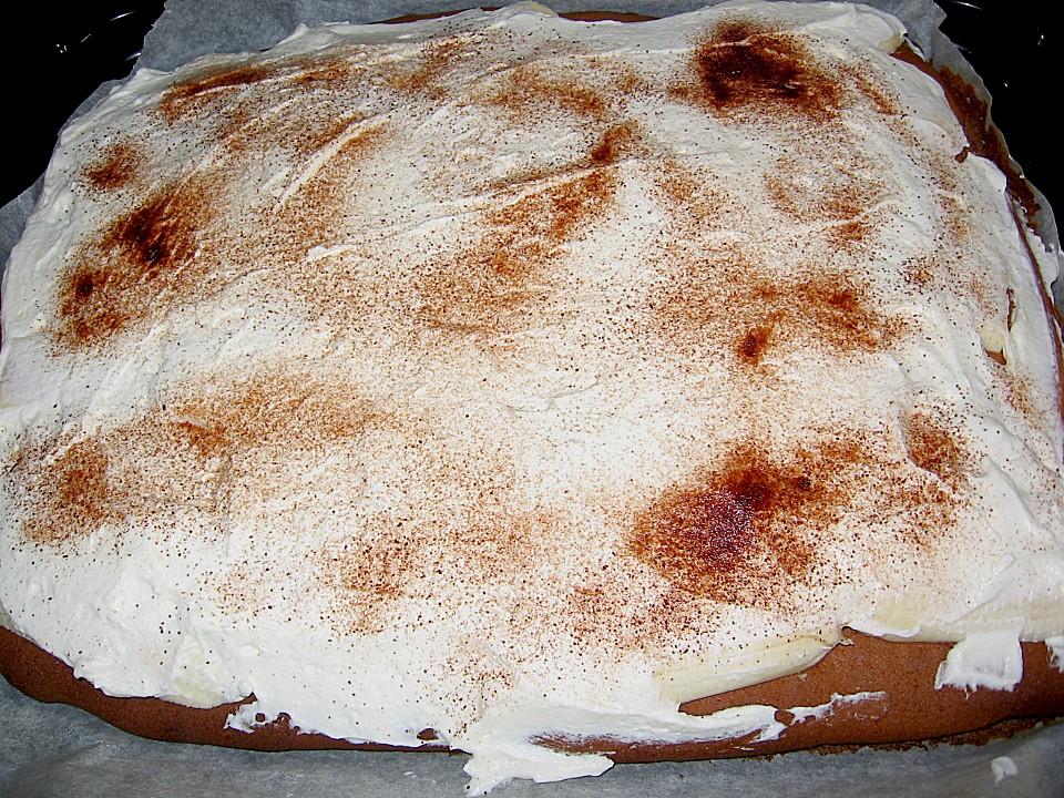 Leckerer Bananen Sahne Kuchen Auf Dem Blech Von Badgirl 111