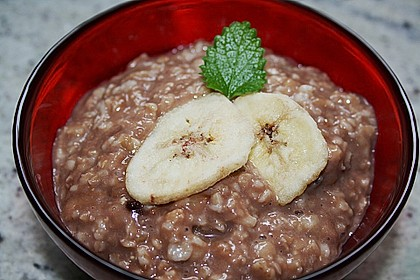 Schoko - Bananen - Porridge 6