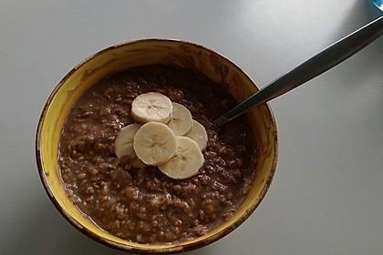 Schoko - Bananen - Porridge 4