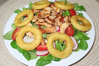 Rucola - Feldsalat mit Putenstreifen und Calamares (Bild)