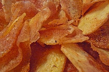 Feurige Kartoffelchips (Bild)