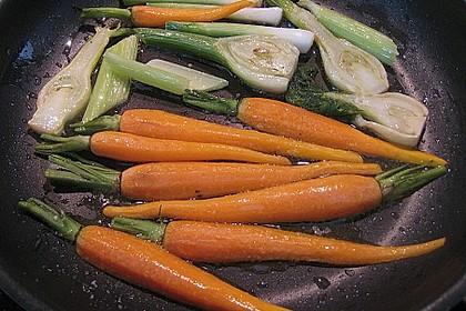 Schellfischloin an Muschel - Kapern - Sauce mit geschmortem Gemüse 3