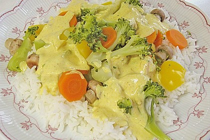 Gemüse in Curryjoghurt 1