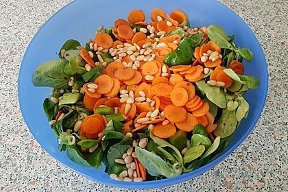 Gemischter Salat mit Pinienkernen und Honig - Senf - Dressing 16