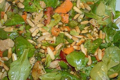 Gemischter Salat mit Pinienkernen und Honig - Senf - Dressing 19