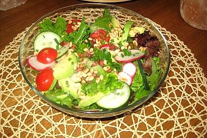 Gemischter Salat mit Pinienkernen und Honig - Senf - Dressing 11