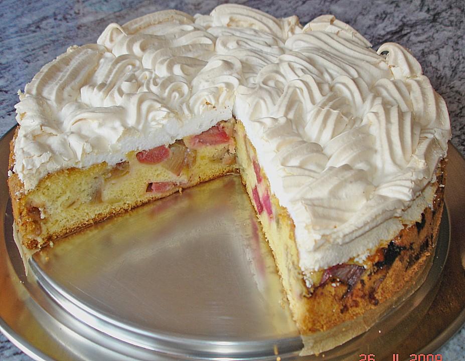 Rhabarber Baiser Kuchen Von Toskanaloewe Chefkoch De