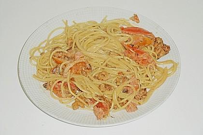 Spagetti mit Garnelen - Sahnesoße mit Cocktailtomaten 20