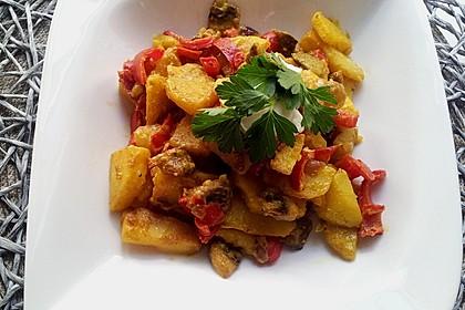 Herzhafte Kartoffel - Gemüse - Pfanne 1