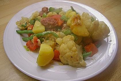Herzhafte Kartoffel - Gemüse - Pfanne 5