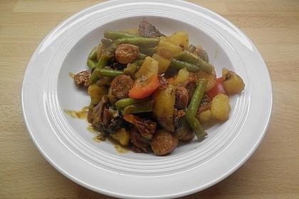 Herzhafte Kartoffel - Gemüse - Pfanne 6