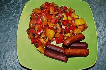Herzhafte Kartoffel - Gemüse - Pfanne 3