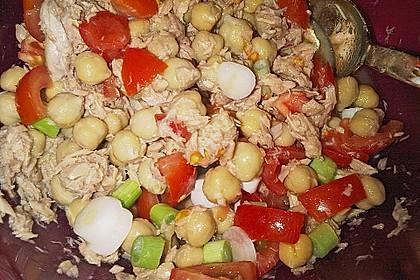 Kichererbsen - Salat mit Thunfisch 3