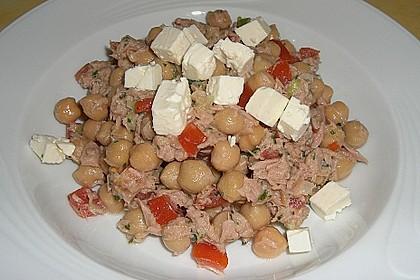 Kichererbsen - Salat mit Thunfisch 1