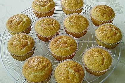 Honig - Muffins  mit  Maismehl 5