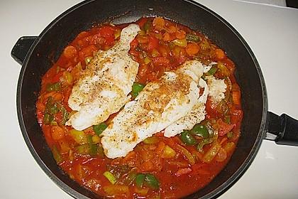 Tomaten - Paprika - Fisch - Auflauf 5